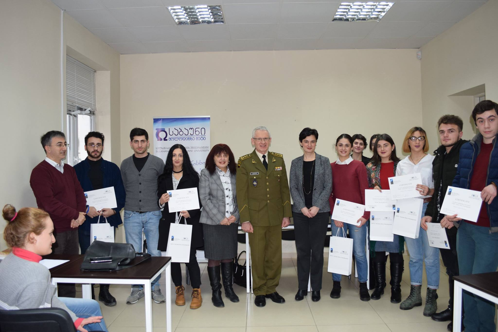 Sabaun students were awarded by a NATO Liaison Officer